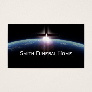 Visitkort för begravningsbyrå för utrymmeheligakor