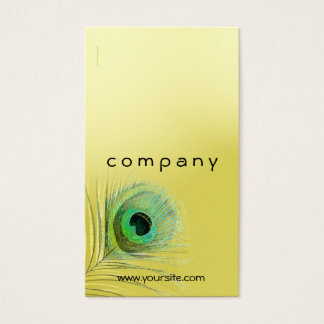 Visitkort för blandning för påfågelfjäder guld-