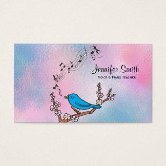 Visitkort för blåsångaremusiklärare