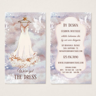 Visitkort för Boho konstnärlig modeBoutique