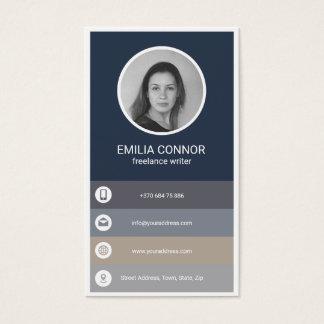 Visitkort för frilansskribent för sjösidafärgtema