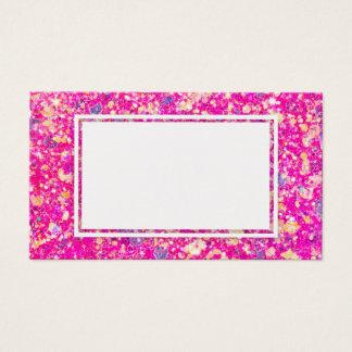Visitkort för gnistra för rosapartyglitter tom
