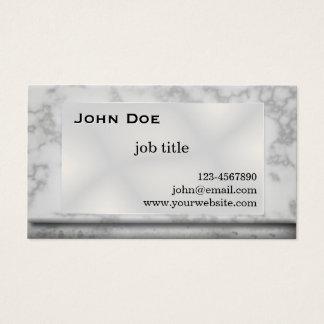 Visitkort för grå färgmarmorsten