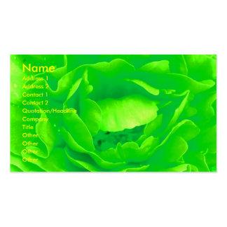 Visitkort för gröntroblomsterhandlare - anpassade
