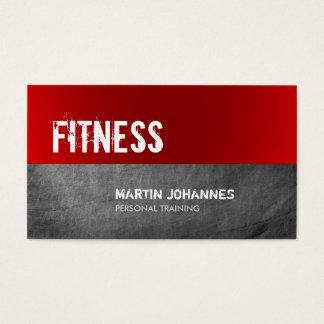 Visitkort för instruktör för röd svart tavla för