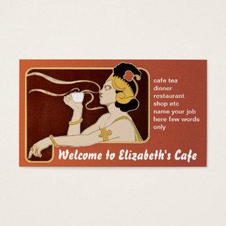 visitkort för kaffe för caferestaurangtea