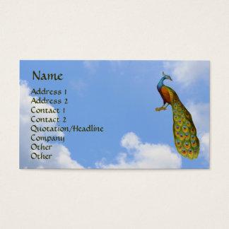 Visitkort för konst för påfågelblå himmelnatur
