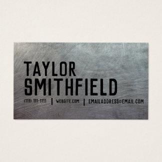 visitkort för lantlig vintage för metall