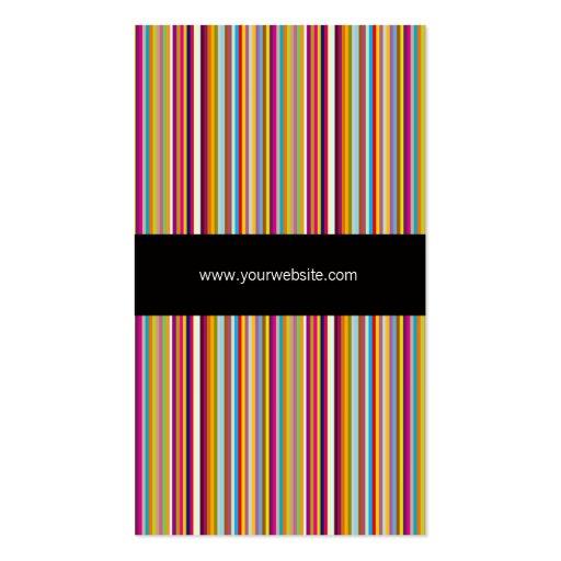 Visitkort för mall för regnbågefärg randig