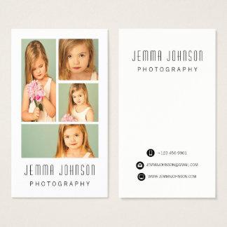 Visitkort för ram för fotograffotografifoto