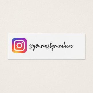 visitkort för socialt massmedia för instagram