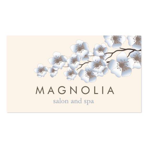Visitkort för Spa för skönhet för eleganta blommar