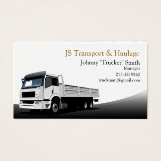 Visitkort för svart för lastlastbiltransport
