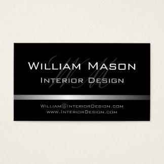 Visitkort för svart- & silverrandprofessionell