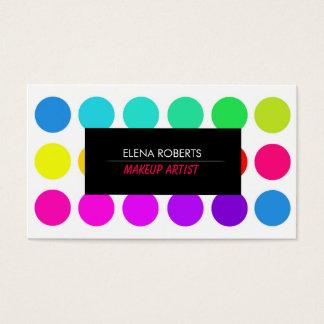 Visitkort för uppsättning för färg för
