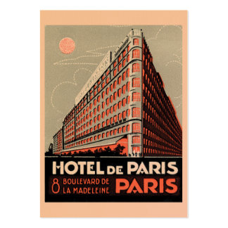 Visitkort för vintagehotellParis affisch