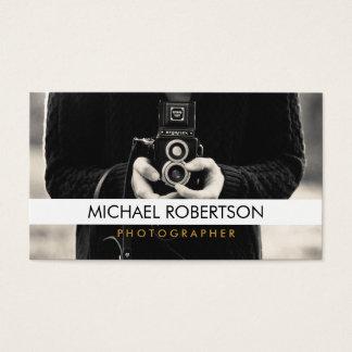 Visitkort för vintagekamerafotograf
