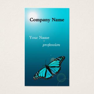 Visitkort för yrke för turkosblåttfjäril