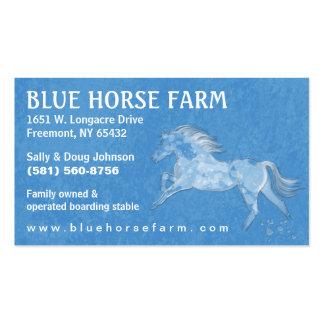 Visitkort - häst för blåttBackround vit