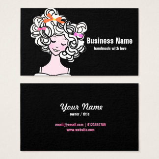 visitkort - kvinna, mode, flicka, hårpilbåge