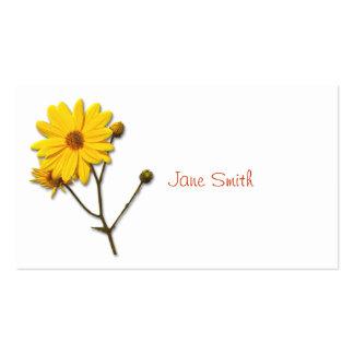 Visitkort med den gula blomman