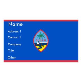 Visitkort med flagga av Guam, USA