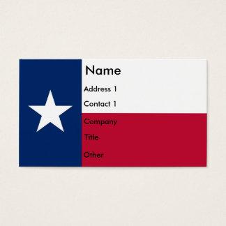 Visitkort med flagga av Texas USA