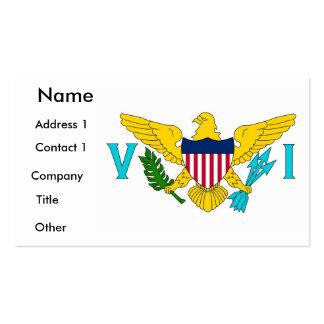 Visitkort med flagga av Virgin Islands