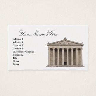 Visitkort med klassisk arkitektur