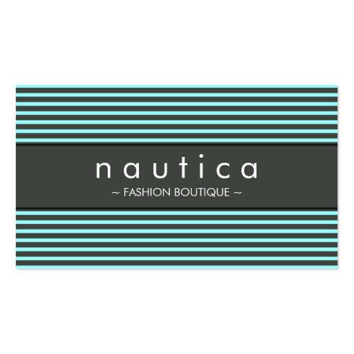 VISITKORT:: nautiska randiga 11 Set Av Standard Visitkort