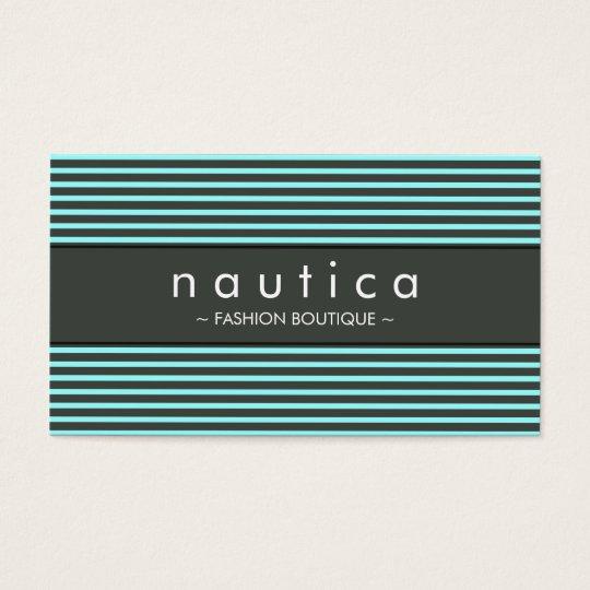 VISITKORT:: nautiska randiga 11 Visitkort