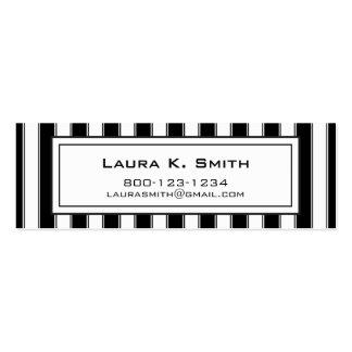Visitkort samtida svartvit rand