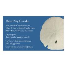 Visitkortar för blått för dollar för CondohyraSand Set Av Standard Visitkort