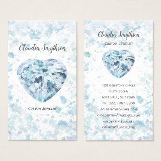 Visitkortar för hjärtadiamantvattenfärg visitkort