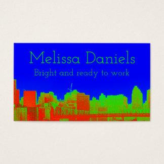 Visitkortar för horisont för koboltblått NYC Visitkort