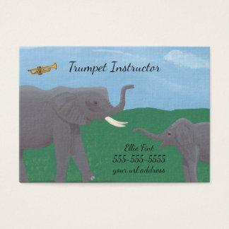 Visitkortar för instruktör för humorelefanttrumpet visitkort