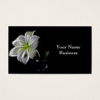 Visitkortar för konst för vitliljaFractal Visitkort