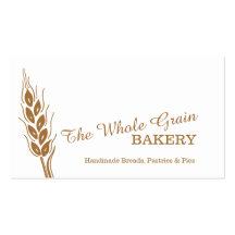 Visitkortar för korn för bagarebagerivete visitkort