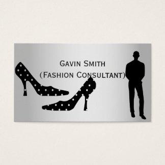Visitkortar för silvermodekonsulent visitkort