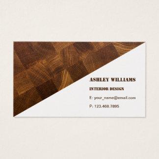 Visitkorten med naturligt trä stiger ombord visitkort