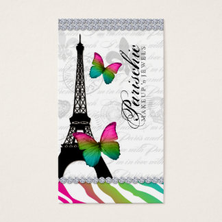 VisitkortParis Eiffel för 311 fjäril torn Visitkort