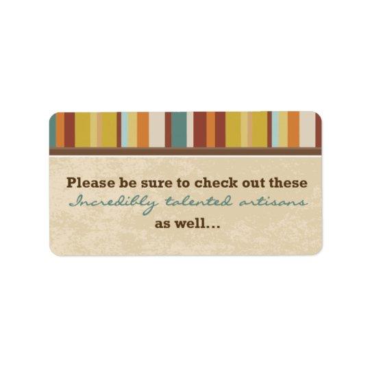 Visitkortpåsen förseglar (för händelser) adressetikett