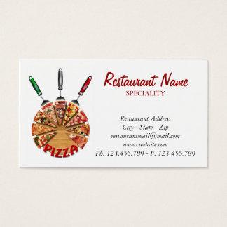 VisitkortPizza på skärbrädan Visitkort