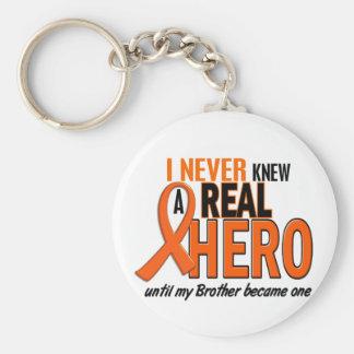 Visste aldrig en ORANGE för hjälte 2 (brodern) Rund Nyckelring