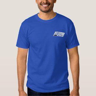Vit 2c för broderi 100131 & Bk bil Broderad T-shirt