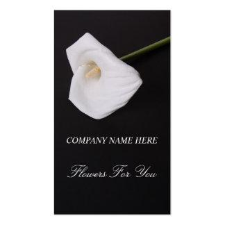 Vit blommar callalilly för dig visitkorten visit kort