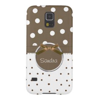 Vit & bruntet pricker fodral för den Samsung Galaxy S5 Fodral