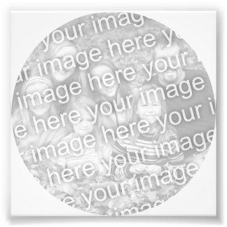 Vit cirklar ramfotoet fototryck