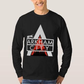 Vit för Arkham stadslogotyp Tee Shirt