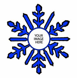 Vit för blått för julgranprydnadSnowflake 1